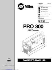 Miller PRO 300 CAT Manuals