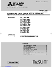 Mitsubishi Electric PUHZ-P140VHA Manuals