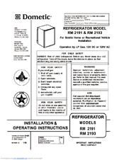 dometic rm2193 wiring diagram guitar diagrams 1 pickup volume manuals installation operating instructions manual