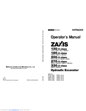 Hitachi ZAXIS 200-3 class Manuals