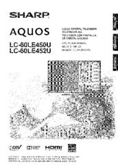 Sharp Aquos LC-60LE450U Manuals