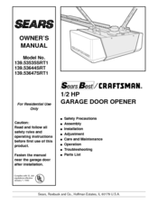 Craftsman 139.53647SRT1 Manuals