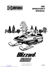 Ski-doo 1982 Blizzard 9500 Manuals