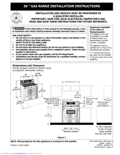 Frigidaire GAS RANGE Manuals