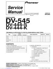 Pioneer DV-444-K Manuals