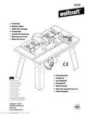Wolfcraft Router table 6156 Manuals
