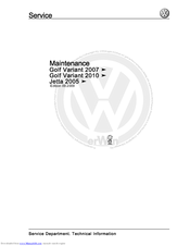Volkswagen Jetta 2005 Manuals