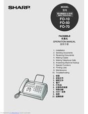 Sharp FO-50 Manuals