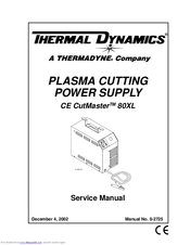 Thermal Dynamics CE CutMaster 80XL Manuals