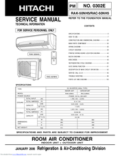 Hitachi RAC-50NH5 Manuals
