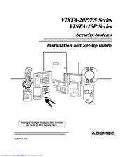 Ademco VISTA-20P Series Manuals