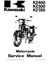 Kawasaki KZ550 Manuals