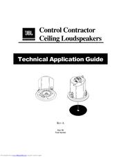 Jbl Control Control 26CT Manuals