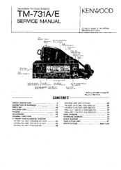 Kenwood TM-731E Manuals