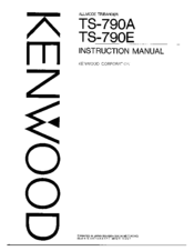 Kenwood TS-790A Manuals