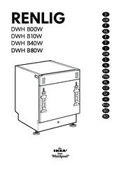 Whirlpool RENLIG DWH B00W Manuals