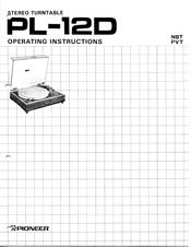 Pioneer PL-12D Manuals