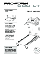 Proform 680 Lt Treadmill Manuals