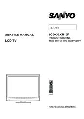Sanyo LCD-46XR10F Manuals