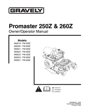Gravely Promaster 250Z Manuals