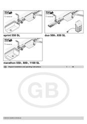 Sommer marathon800 SL Manuals