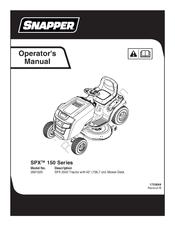Snapper SPX 150 Series 2691020 Manuals