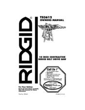 Ridgid TS3612 Manuals