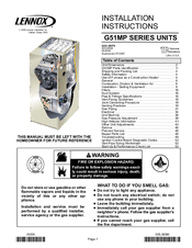 Lennox G51MP Manuals