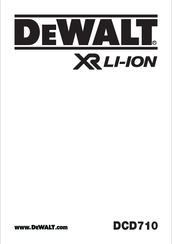 Dewalt DCD710 Manuals