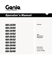 Genie GS-1530 Manuals