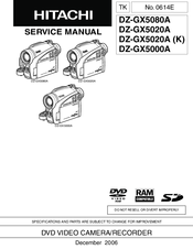 Hitachi DZ-GX5080A Manuals