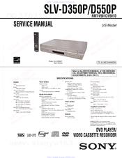 Sony SLVD350P Operating Instructions (SLVD350P DVDVCR) Manuals