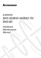 Lenovo B41-30 Manuals