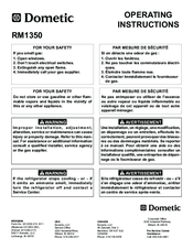 dometic rm1350 wiring diagram 1985 chevy c10 alternator elite manuals operating instructions manual