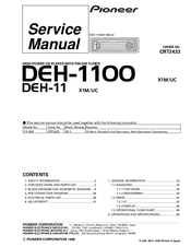 pioneer deh 1100mp car stereo wiring diagram walking stick insect life cycle 1100 free for you service manual pdf download rh manualslib com 11