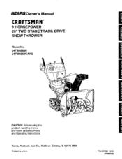 Craftsman Sears 247.88269CARB Manuals