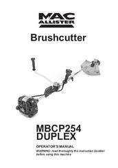 Mac Allister MBCP254 DUPLEX Manuals