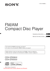 Sony CDX GT600UI Manuals