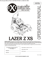 Exmark Lazer Z XS Manuals
