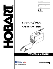 Hobart AIRFORCE 700I Manuals