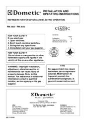 dometic rm2611 wiring diagram 12 volt boat rm 2620 manuals