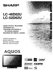Sharp Aquos LC 46D62U Manuals
