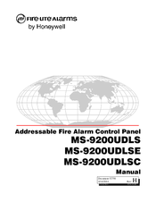 Fire-lite MS-9200UDLS/E Manuals