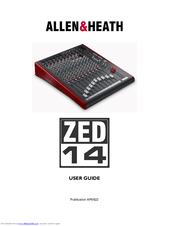 Allen & Heath ZED 24 Manuals