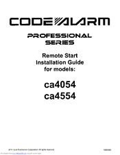 Code Alarm ca4554 Manuals