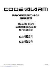 Code Alarm ca4554 Manuals