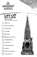 Bissell Lift-Off 80X9 SERIES Manuals