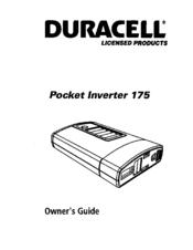 Duracell Pocket inverter 175 Manuals