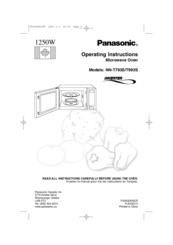 Panasonic NN-P794 series Manuals
