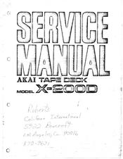 Akai X-2000 Manuals